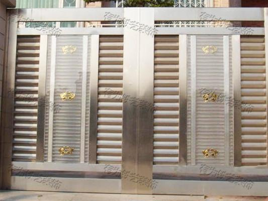 304不锈钢大门
